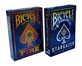 Bicycle Stargazer & Fire Elements Series Playing Cards Bundle, 2 Decks (Basic Pack) (2 Deck)