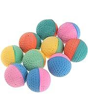 DUESI 10 szt. zabawka dla zwierząt domowych kulki lateksowe kolorowe żucie dla psów kotów szczeniak kotek miękkie elastyczne