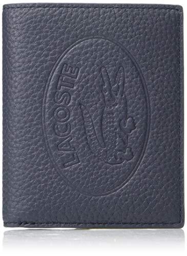 Lacoste Women's Leather Croc Bifold Wallet, Peacoat Blue