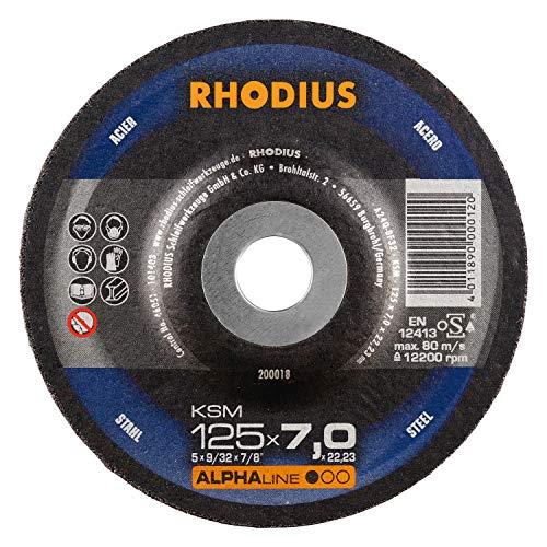 RHODIUS Schruppscheiben Stahl KSM Ø 125 x 7,0 mm für Winkelschleifer Schleifscheibe 5 Stück
