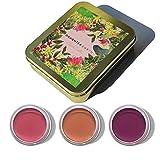 Glamorous Hub Daughter Earth Clean Pigments Set de regalo de tres tintes para labios y mejillas