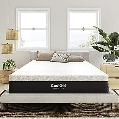 Classic Brands Cool Gel Ventilated Memory Foam 12-Inch Mattress   CertiPUR-US Certified   Bed-in-a-Box, Queen