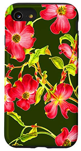 iPhone SE (2020) / 7 / 8 Pink Dogwood Flower Motif Best Gift For Flower Lovers Case