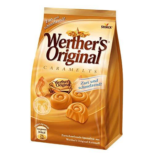 Storck Werther's Original Caramelts – Feine, zarte Karamell Bonbons mit lang anhaltendemgenuss, der auf der Zunge zergeht, 153 g