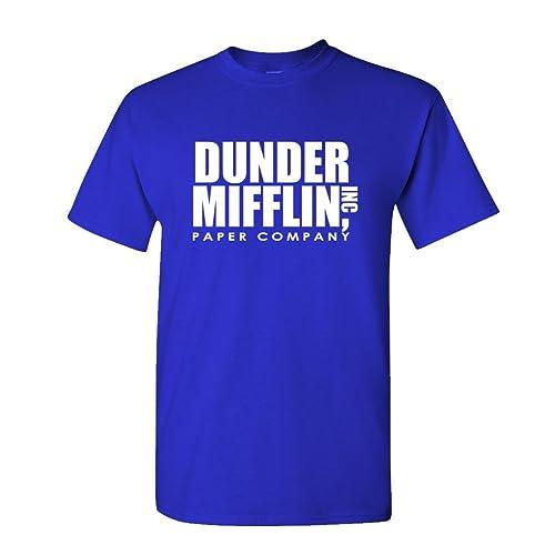 edd0a778c6c The Office TV Show Dunder Mifflin Paper Men s Royal Blue T-Shirt