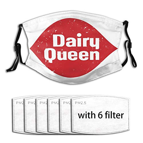 dairy masks Mask- Dairy Queen Logo Reusable Anti Dust Cover Multiple Filters