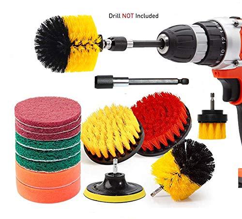 Rain Queen Bürste für Bohrmaschine elektrische Bohrmaschine Auto Badezimmer Küche Fliesen Reifen Fenster 14 Pièces
