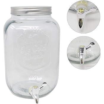 4x Trinkgläser ORION Glasfass Getränkespender mit Zapfhahn 8,8l