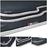 tuning-art LX417 Luxury-Line tappetini Adatto per Porsche 911 992 Cabrio/Targa, Bordo:Argento