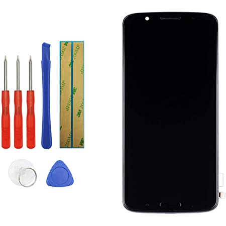 Upplus Replacement Screen Compatible with Motorola Moto G6 Plus Replacement Touch Screen LCD Assembly Front Pannel + Adhesive with Frame with Toolkit (Black)