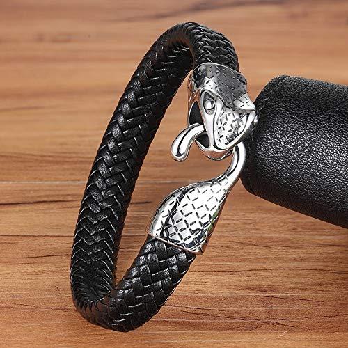 Earthily Bangle Viking Hommes, mythologie Nordique, Bracelets de Pirate, Bracelet, Cadeau, Bijoux pour Hommes, Femmes, Adolescent, Bronzage Wkinger Hommes (Länge : 21cm)