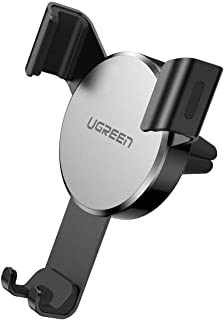 UGREEN Car Air Vent Mount Cell Phone Holder Gravity for iPhone 11/11Pro/11Pro Max/Xs X XR 6S 7 Plus 8 5S 6, Samsung Galaxy S9 S7 Edge S8 S6 Huawei Mate 30 Google Pixel 2 XL, LG G6 Smartphone -Silver