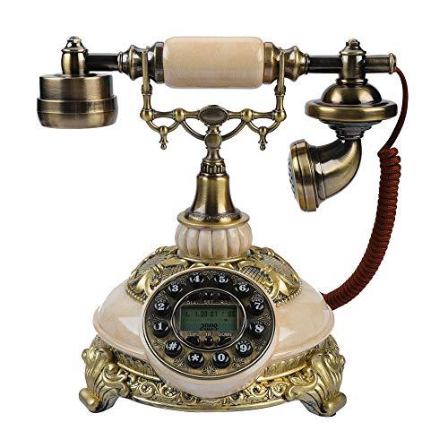 Bewinner Teléfono Clear Sound Retro - Teléfono Retro con Pantalla LCD - Función de Rellamada con Solo Toque - Los Teléfonos de Línea Fija para la Decoración del Hogar y la Oficina