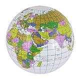 Islander Fashions Inflatable Blow Up Globe 40cm Atlante Mappa del mondo Terra Bambini Bamb...