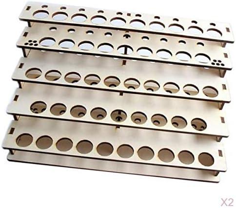 Bonarty 2-Packs Wood Paint Rack Topics on TV Bottles Pigment Ink Shelf Latest item Organi