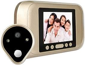 Daqin Video Doorbell, HD Smart Wireless Walkie-talkie Smart Doorbell, LCD Doorbell Viewer Digital Door Peephole Viewer 720P HD Camera Door Eye Video Record 120 Degrees Night Vision Remote doorbell kit