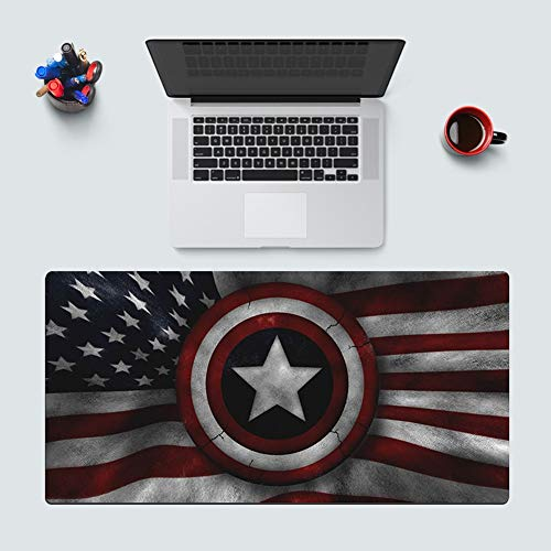 Leash Captain America Gaming Mouse Pad, Iron Man Extended Anime Mouse Pad Oversized Waterproof Mouse Pad with Non-Slip Rubber Base for Improved Speed and Accuracy (Color : C, Size : 400X800X5cm)