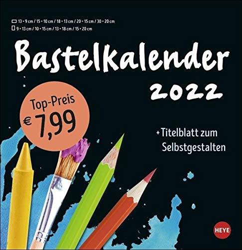 Bastelkalender schwarz groß 2022