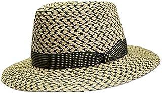 ハット メンズ [Tesiテシ] 中折れハット 紳士帽子 夏イタリア製 インポート ベージュ×ブラック ブレード 1850年創業 T2011