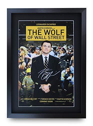 HWC Trading Wolf of Wall Street A3 Incorniciato Firmato Regalo Visualizzazione delle Foto Print Immagine Autografo Stampato per Leonard Dicaprio Gli Appassionati di Cinema