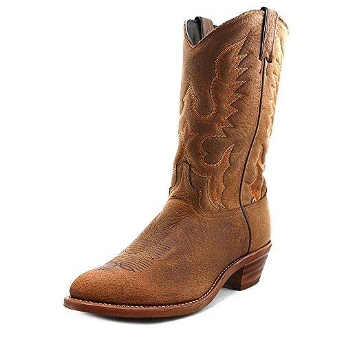 Abilene Men's Bison Leather Cowboy Boot Medium Toe Tan 9.5 EE US