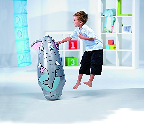 52152 Pungiball gonfiabile sempre in piedi Bestway per bambini a forma di elefante. MWS