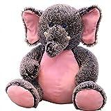 GIRISR Peluche Elephant/Singe Mignon Doux Peluche Éléphant Animal Coussin Éléphant Coussin De Canapé Anniversaire Cadeau 19.6',Grayelephant,50cm/19.6'