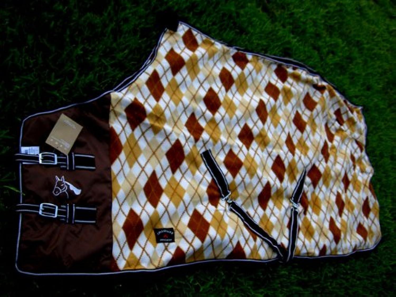 Challenger Horsewear 64  Horse Sheet Polar Fleece Cooler Exercise Blanket Wicks Moisture Brown 4307