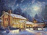 Puzzle 1000 piezas Cartel de navidad pintura serie 1 regalo de arte puzzle 1000 piezas paisajes Rompecabezas de juguete de descompresión intelectual Gran ocio vacacional, jueg50x75cm(20x30inch)