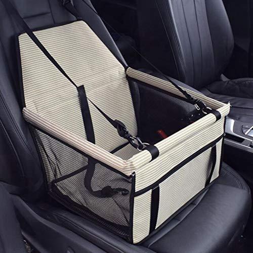 PETEMOO Haustier Autositz für Hunde und Katzen, Atmungsaktive wasserdichte Sitzbezug mit Sicherheitsleine, kleine Hundewelpe Reise Auto Beschützer Tragetasche