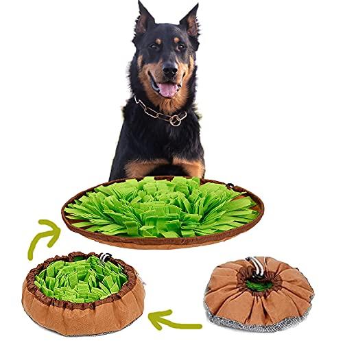 Xiaohudui - Esterilla para perro con diseño de rompecabezas interactivo, lavable a máquina, manta para la nariz para alimentar perros medianos y grandes, juego de alimentación para el aburrimiento