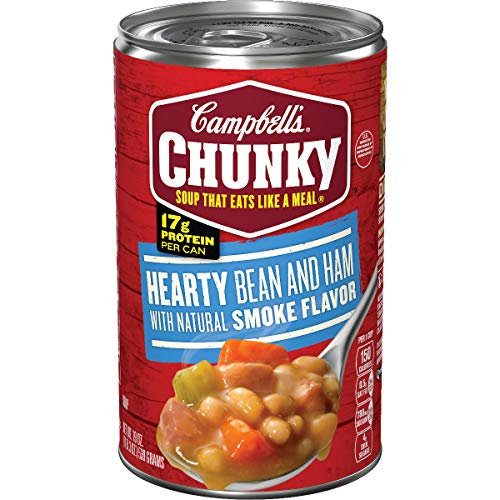 Campbell's Chunky Soup, Hearty Bean and Ham with Natural Smoke Flavor, 19 oz