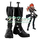 ディルック 原神 Genshin コスプレ靴 コスプレブーツ cosplay オーダーサイズ/スタイル 製作可能 【タママ】(24cm)