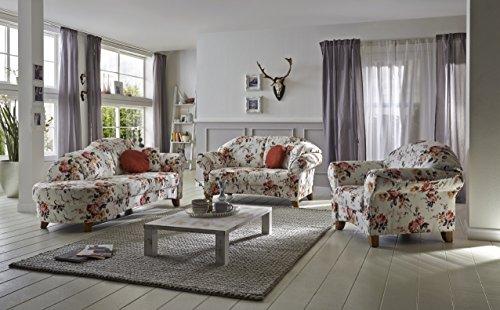 Geblümtes Sofa mit Federkern im Landhausstil Bild 3*