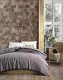 Shelly Flanell Tagesdecke Überwurf Decke - Warme Wohndecke perfekt für Bett & Sofa, 100prozent Baumwolle 185x235cm (hellpink)
