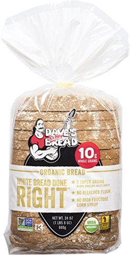 Dave's Killer Bread - White Bread Done Right - 4 Loaves - USDA Organic
