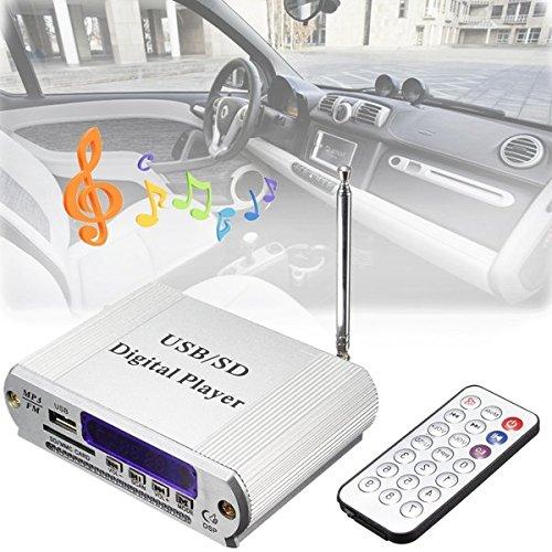Generic Mini Digital Player FM Radio Remote Control LED Display MP3 USB SD Headphone Out Car Amplifier