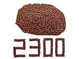 GM&BW 2300 Piezas Tirachinas Bolas Arcillas Cantidad en 9,5mm Color Rojo