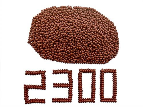GM&BW 2300 Billes d'argile Biodégradable pour Lance-Pierre 9,5 mm de Diamètre