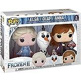 Funko Pop Movies : Frozen 2 - Travel Elsa, Travel Anna, & Olaf (Exclusive) Three Pack 3.75inch Vinyl...