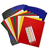 100 Sheets Carbon Transfer Paper,Tracing Paper Carbon Graphite Copy Paper with 5 Pieces Embossing Styluses Stylus Dotting Tools for Wood,Paper,Canvas and Other Art Surfaces 8.3 x 11.7inch