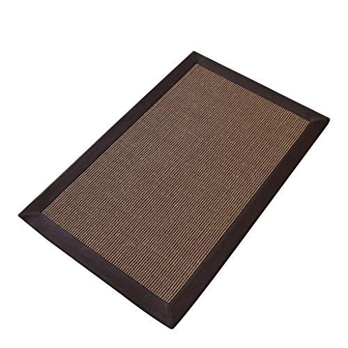 ZJJ-X Moquette Tessuta in Sisal, Ecologica, Confortevole, Isolata, Facile da Pulire, Soggiorno, Tavolino, Ristorante (Color : Non-Slip Rubber Surface, Size : 250x 350CM)
