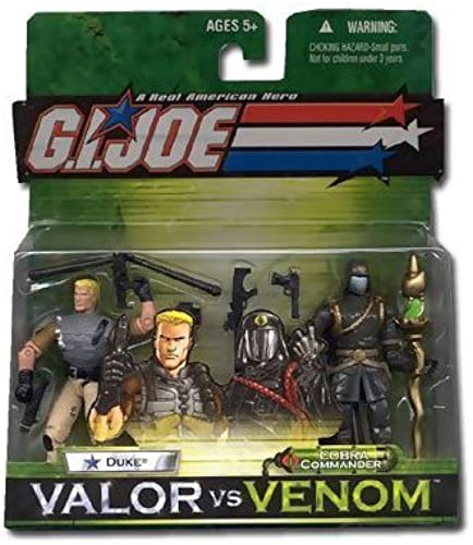 GIJoe 3 3 4 Inch Duke and Cobra Commander Gold Braid 2 Pack by Valor vs Venom