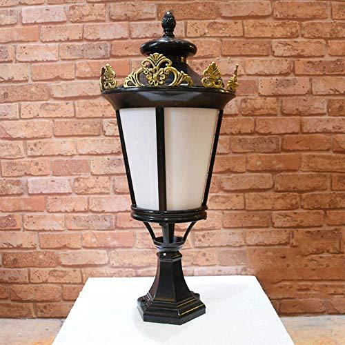 NZDY Lámpara de Poste para Exterior con Montaje en Muelle para Patio 21.65 'Lámpara de Pilar de Poste Alto Luz de Pedestal de Jardín para Entrada Linterna de Columna de Poste de Bronce Antiguo con Vi