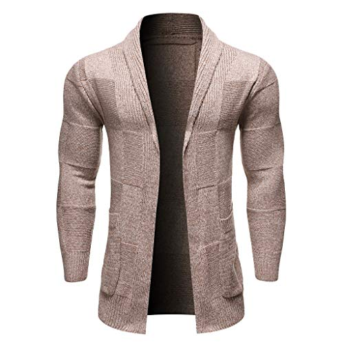 Herren Strickjacke warme Strickpulli Strickmantel Winterjacke Cardigan Männer Knit Trenchcoat Jacke Langarm Strickmäntel Outwear Herbstjacke CICIYONER