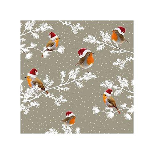 Susy Card 40003306de Navidad Servilleta, impreso en papel, 3capas, 20unidades, diseño: Robin, 25x 25cm,