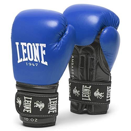 LEONE 1947 Ambassador Boxhandschuhe, Unisex, für Erwachsene, Blau, 14 oz