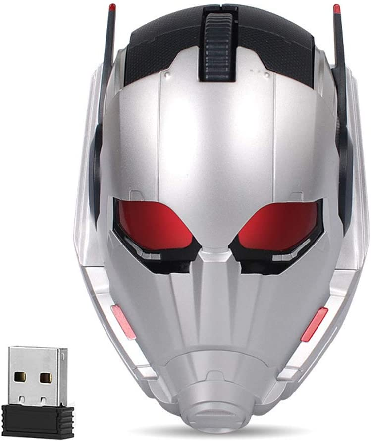 Cool Wireless Mouse Iron Man Black Panther Star Lord Ant Man Tree Man Gaming Mice with USB Unifying Receiver 1200 DPI for PC and Laptops (ant Man)