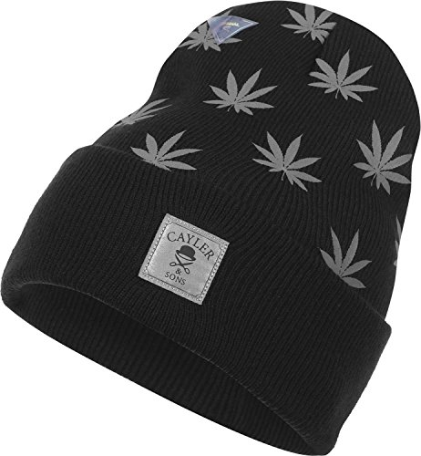 Cayler And Sons - Bonnet Homme Budz n Stripes Old School Beanie - Black/Reflective