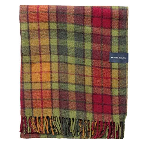 The Tartan Blanket Co. Recycelte Wolldecke Schottenmuster - Buchanan Autumn (150cm x 190cm)